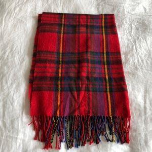 Plaid target long scarf